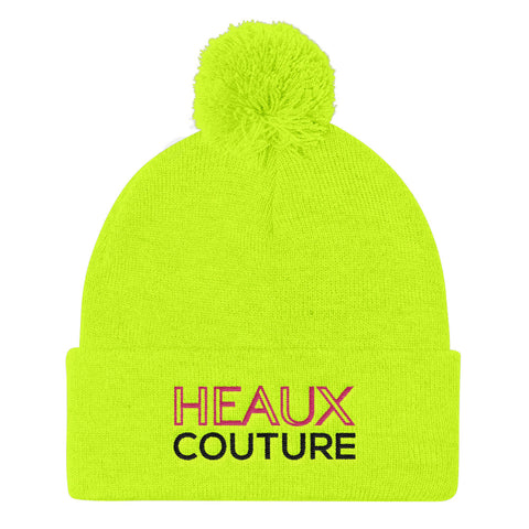 HEAUX COUTURE POM BEANIE