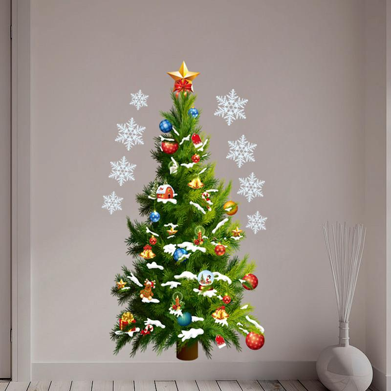 Christmas Tree Wall Decal Easy Application