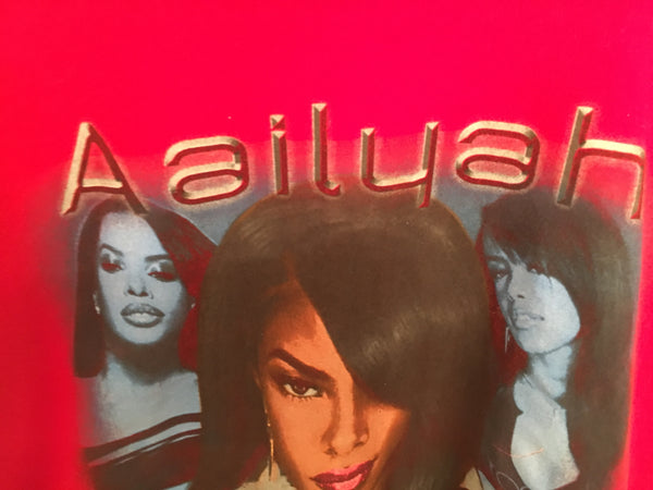 "91468fbc548 ... Vintage 90s Bootleg Aaliyah Rap T-Shirt ""Aailyah One In A Millon"" Promo  ..."