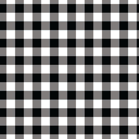 "Printed HTV - Buffalo Black&White -Plaid One - 12"" x 14"" Sheet"