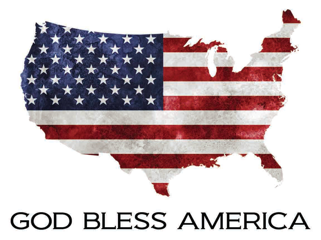 God Bless America American Flag Decal Bailey And Company Designs