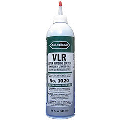 AlbaChem Vinyl Letter Removing Solvent 20 oz. Bottle, No. 1020 VLR