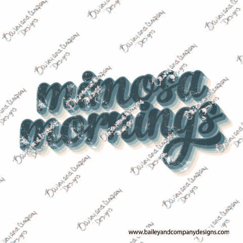 Mimosa Mornings 003 Digital Design - PNG File