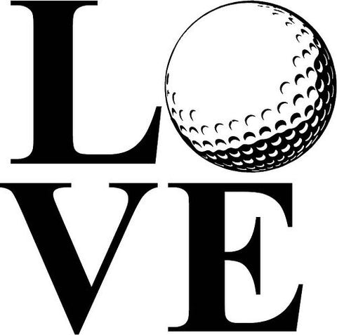 Vinyl Decal | LOVE golf