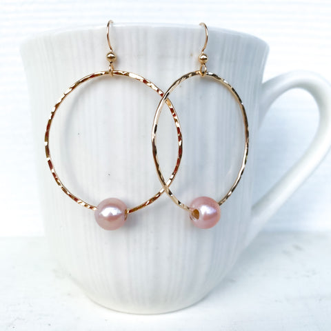 Edison pearl hoop earrings