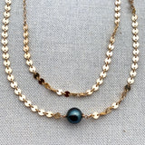 Tahitian pearl coin necklace