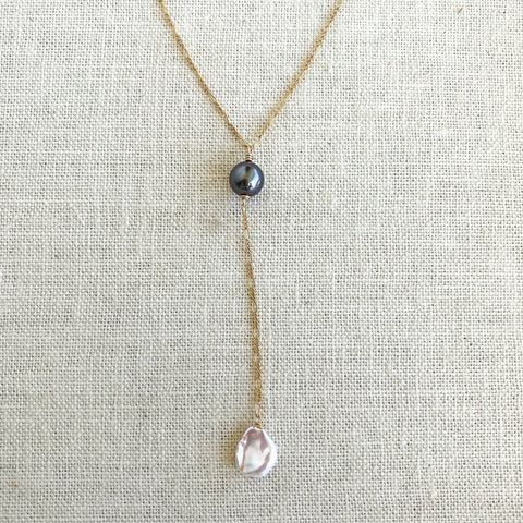 Multi-pearl drop necklace