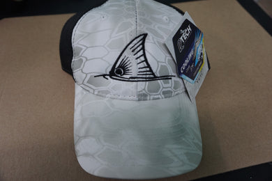 Kryptek White Yeti Camo Hat Black Mesh Back - Redfish  Tail