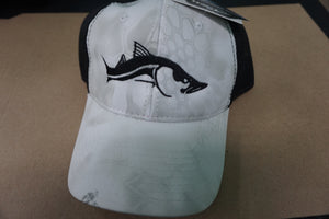 Kryptek White Yeti Camo Hat Black Mesh Back - Snook