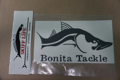 Skiff Life Snook Fish Car & Truck Decal Stickers in Black or White