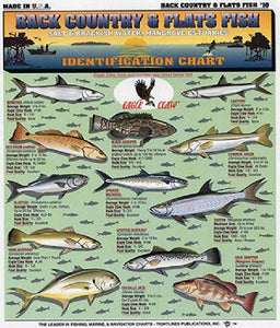 Tightlines 00036 Fish ID Chart #10 Back Country & Flats Fish