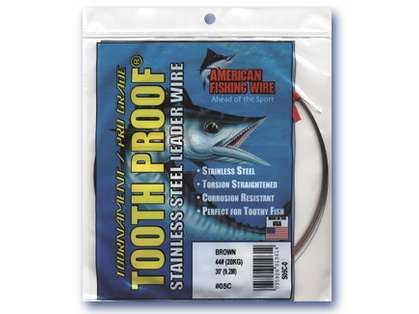 American Fishing Wire Tooth Proof Single Strand Leader Wire - Camo