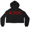 R-Rated Crop Top Hoodie BLACK