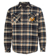QUILTED FLANNEL OVERSHIRT - BLUE