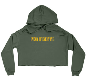 R-Rated Crop Top Hoodie MILITARY GREEN