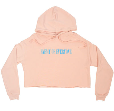 R-Rated Crop Top Hoodie PEACH