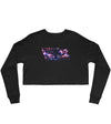 LIGHTNING CROPPED SWEATSHIRT - BLACK