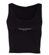 WOMEN'S ESSENTIAL GYM CROP - BLACK