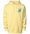 Rose Hoodie Pale Yellow