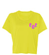 Women's Cropped Tee Yellow