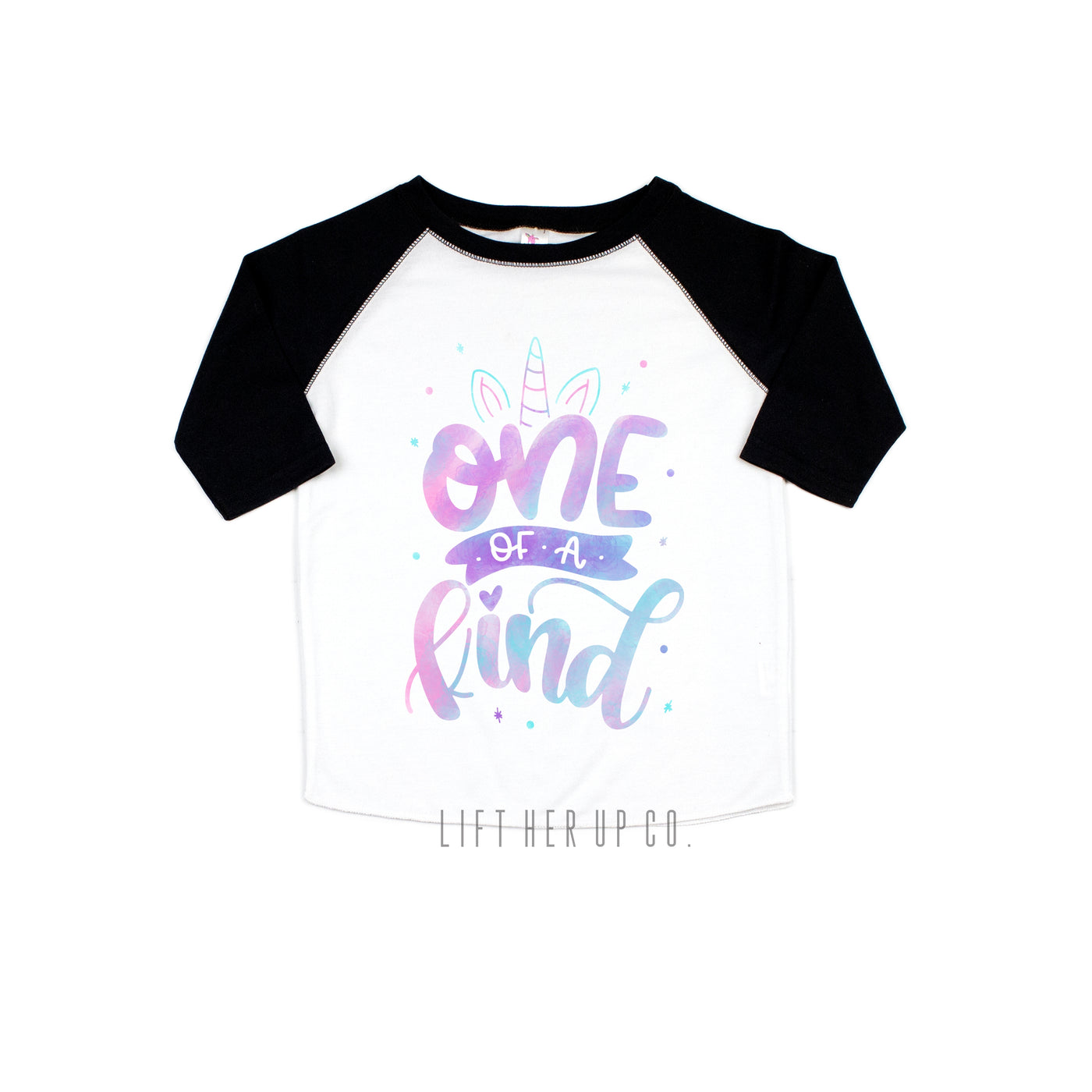 156697c029f One of a Kind Unicorn Toddler Raglan 3 4 Sleeve Baseball Tee Shirt ...
