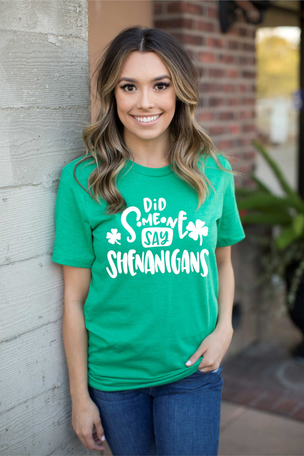 Did Someone say Shenanigans St Patrick's Day Green Clover Adult Unisex Tee