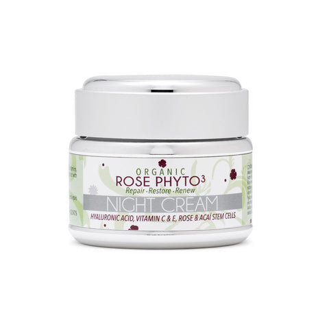 Brands,Face,New Products,Sale - Organic Rose Phyto³ Night Cream With Hyaluronic Acid
