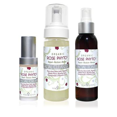 Shop,Brands,Face,Gifts & Sets - Organic Rose Phyto³ - Facial Cleanser, Toner & Cream