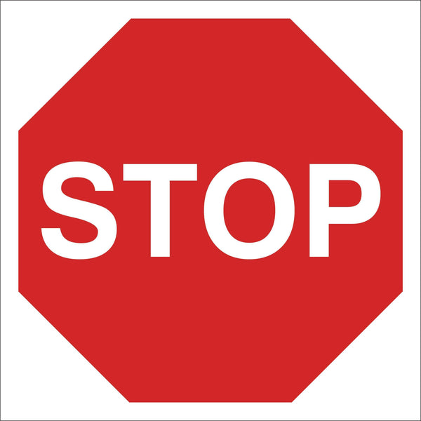 Stop sign Sign, Self Adhesive Vinyl, 1mm PVC, 5mm Correx Board