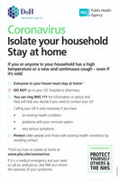 Covid-19 Coronavirus Stay at Home Sign, Self Adhesive Vinyl, 1mm PVC, 5mm Correx Board