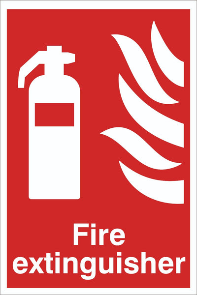 Fire Extinguisher  Sign, Self Adhesive Vinyl, 1mm PVC, 5mm Correx Board
