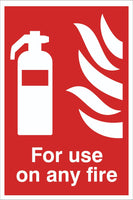 For Use on any fire Sign, Self Adhesive Vinyl, 1mm PVC, 5mm Correx Board