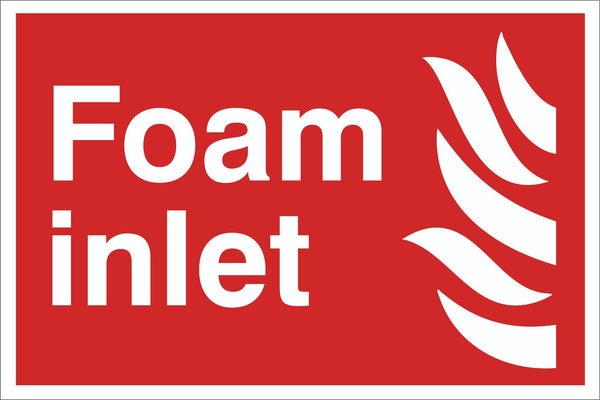 Foam inlet Sign, Self Adhesive Vinyl, 1mm PVC, 5mm Correx Board