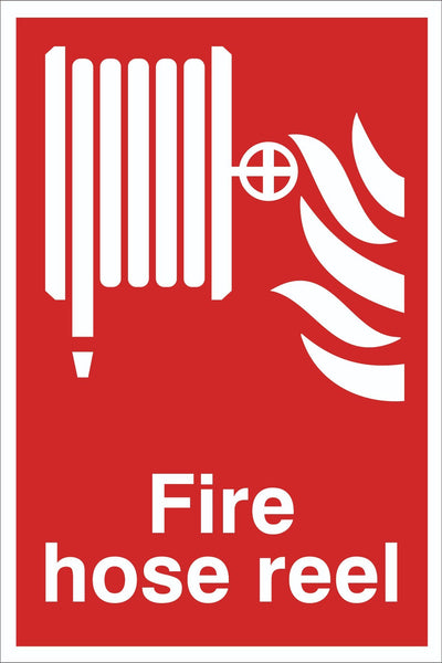 Fire Hose Reel Sign, Self Adhesive Vinyl, 1mm PVC, 5mm Correx Board