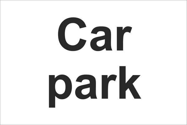 Car park Sign, Self Adhesive Vinyl, 1mm PVC, 5mm Correx Board
