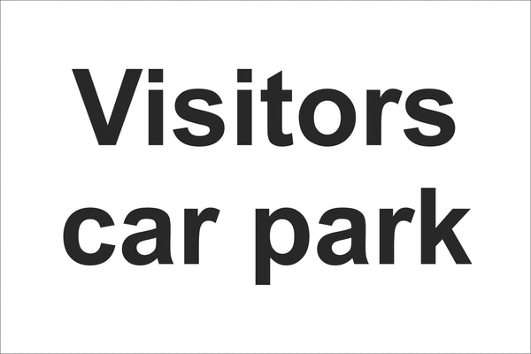 Visitors car park Sign, Self Adhesive Vinyl, 1mm PVC, 5mm Correx Board