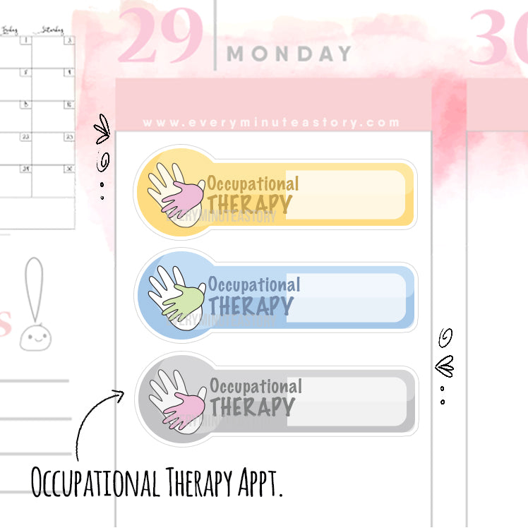 Occupational therapy Functional Planner Stickers - Every Minute A Story