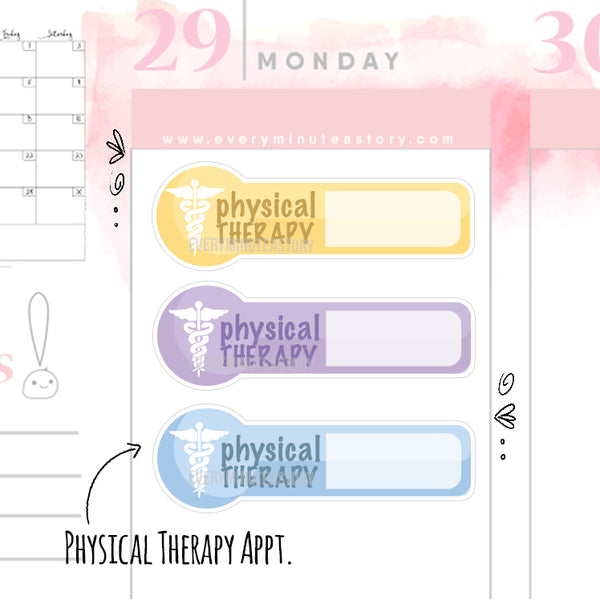 Physical therapy therapist Planner Stickers - Every Minute A Story