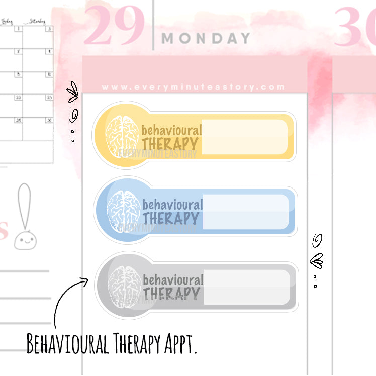 Behavioural therapy Planner Stickers - Every Minute A Story