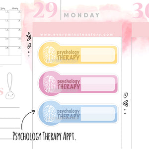 Psychology therapy therapist Planner Stickers - Every Minute A Story