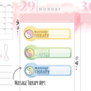 Massage therapy therapist Planner Stickers - Every Minute A Story