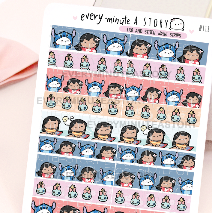Lilo and Stitch washi strips