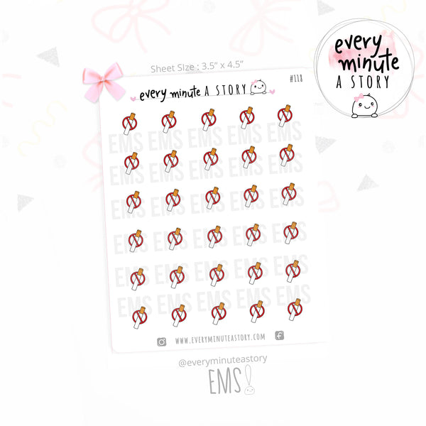 No Cigarette planner Stickers - Every Minute A Story