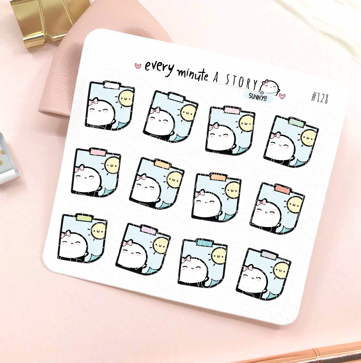 Sunny day stickies weather planner stickers