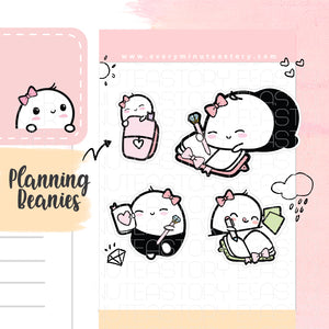 Beanie planning time planner stickers - Every Minute A Story