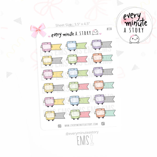 Bus time tracker planner stickers - Every Minute A Story