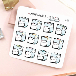 Cloudy/semi-cloudy stickies weather planner stickers