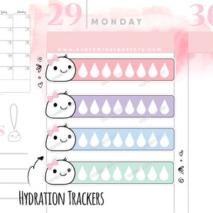 Water intake hydrate planner stickers - Every Minute A Story