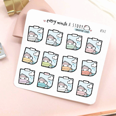 Snow day/too cold stickies weather planner stickers