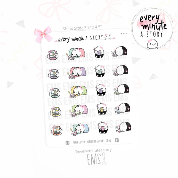Beanie phone/texting planner stickers - Every Minute A Story